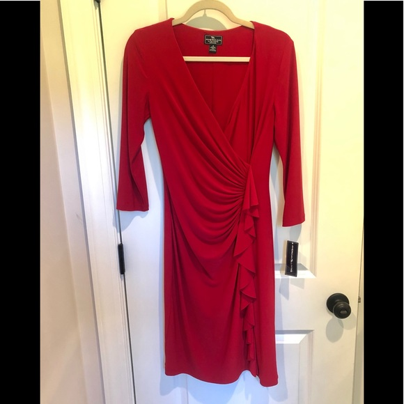 American Living Dresses & Skirts - NWT AMERICAN LIVING FAUX WRAP STRETCH DRESS SZ 6